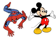 Spiderman & Micky Mouse